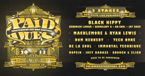 Murs Announces 2013 Paid Dues Line Up