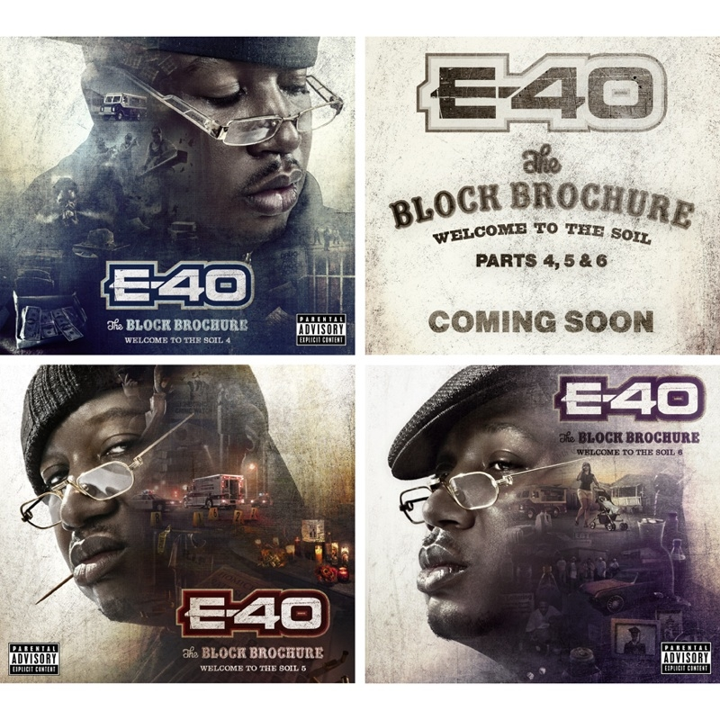 E-40 Releases New Artwork Covers For Three New Albums