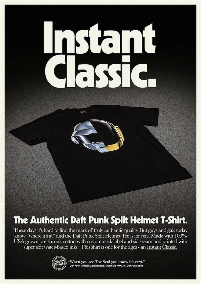 Daft Punk's Official Merch Ad Is Appropriately Retro
