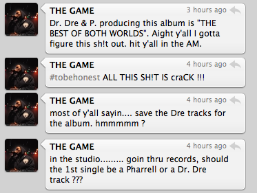 "The Game Tweets New ""R.E.D. Album"" Details"