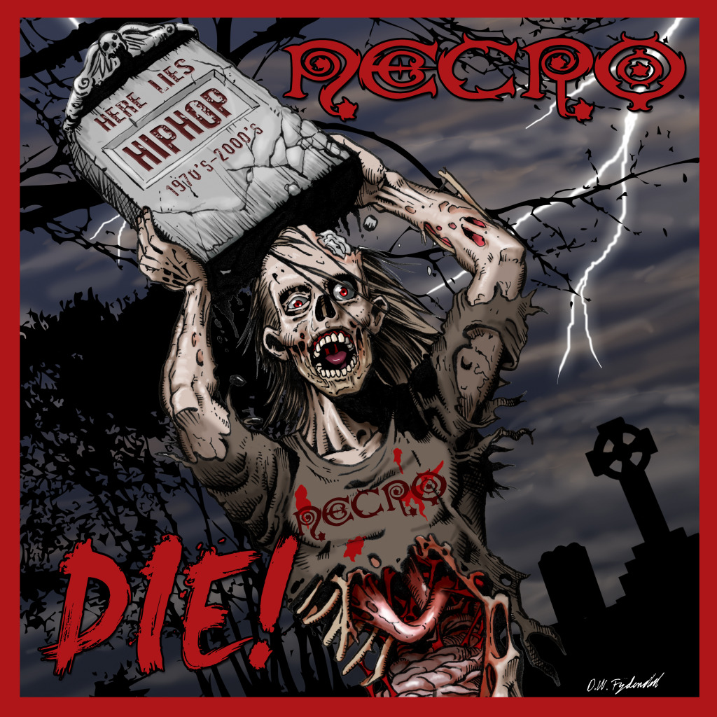 "Necro - ""Die!"" Album Cover Reveal; Uncle Howie Passes"