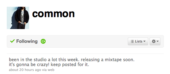 Common Is Releasing A Mixtape.