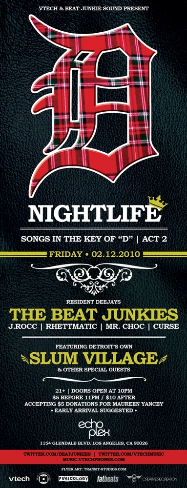 "Beat Junkies + Slum Village - ""Songs In The Key Of D"" @ Nightlife L.A. 2/12/10 (MP3)"