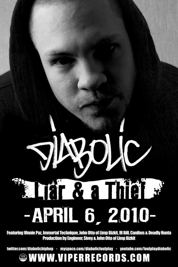 "Diabolic + Vinnie Paz - ""Not Again"" (MP3)"