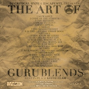 DJ Critical Hype & EscapeMTL – The Art Of Guru Blends (Mixtape)