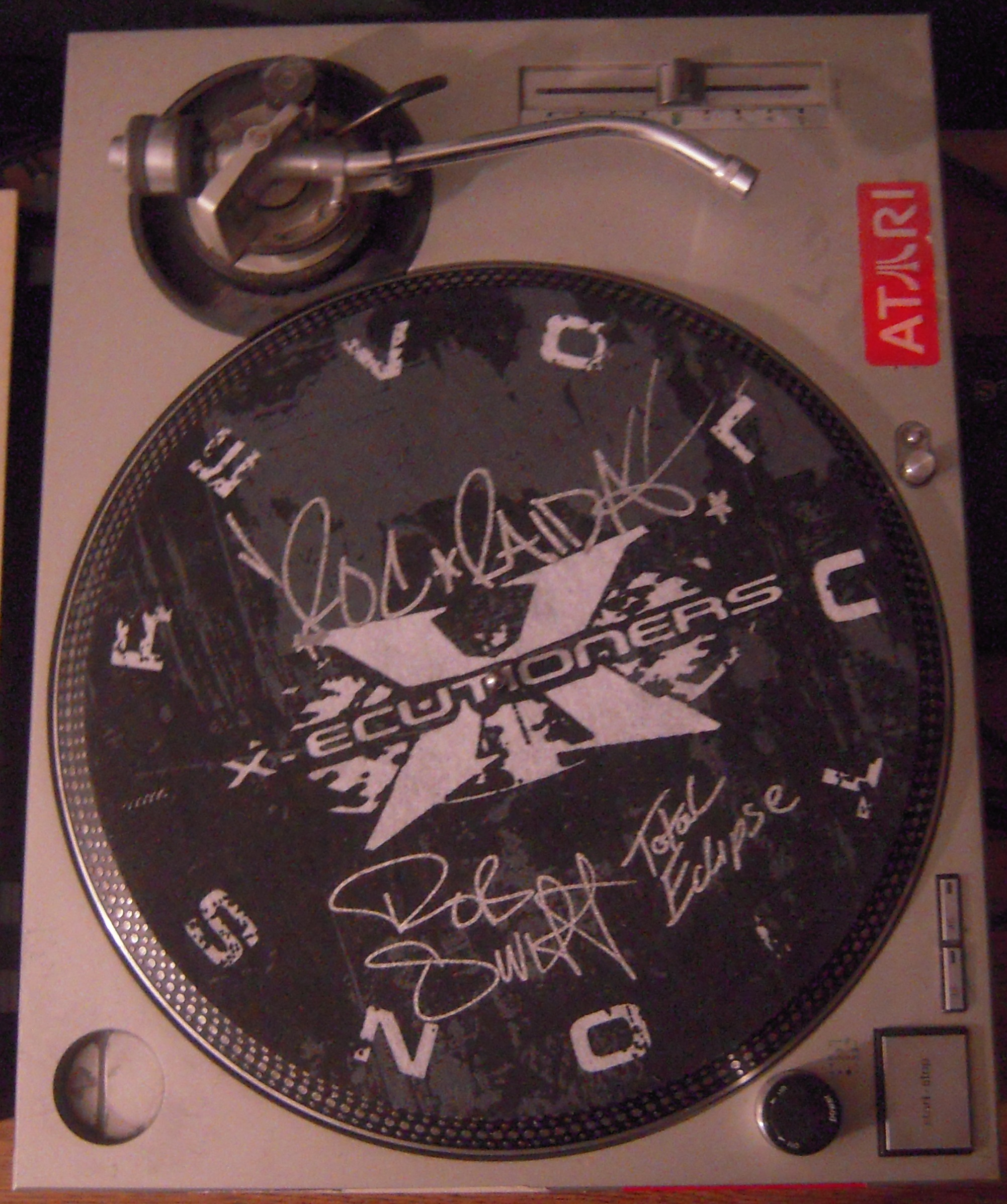 The X-Ecutioners Autographed Slipmat (R.I.P. Roc Raida) 