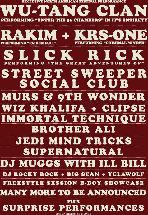 Rock The Bells Lineup Announced
