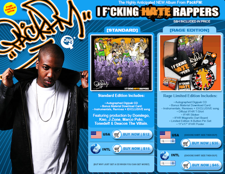 """Pack FM """"I F*ckin' Hate Rappers"""" Pre-Order Packages Are Up"""