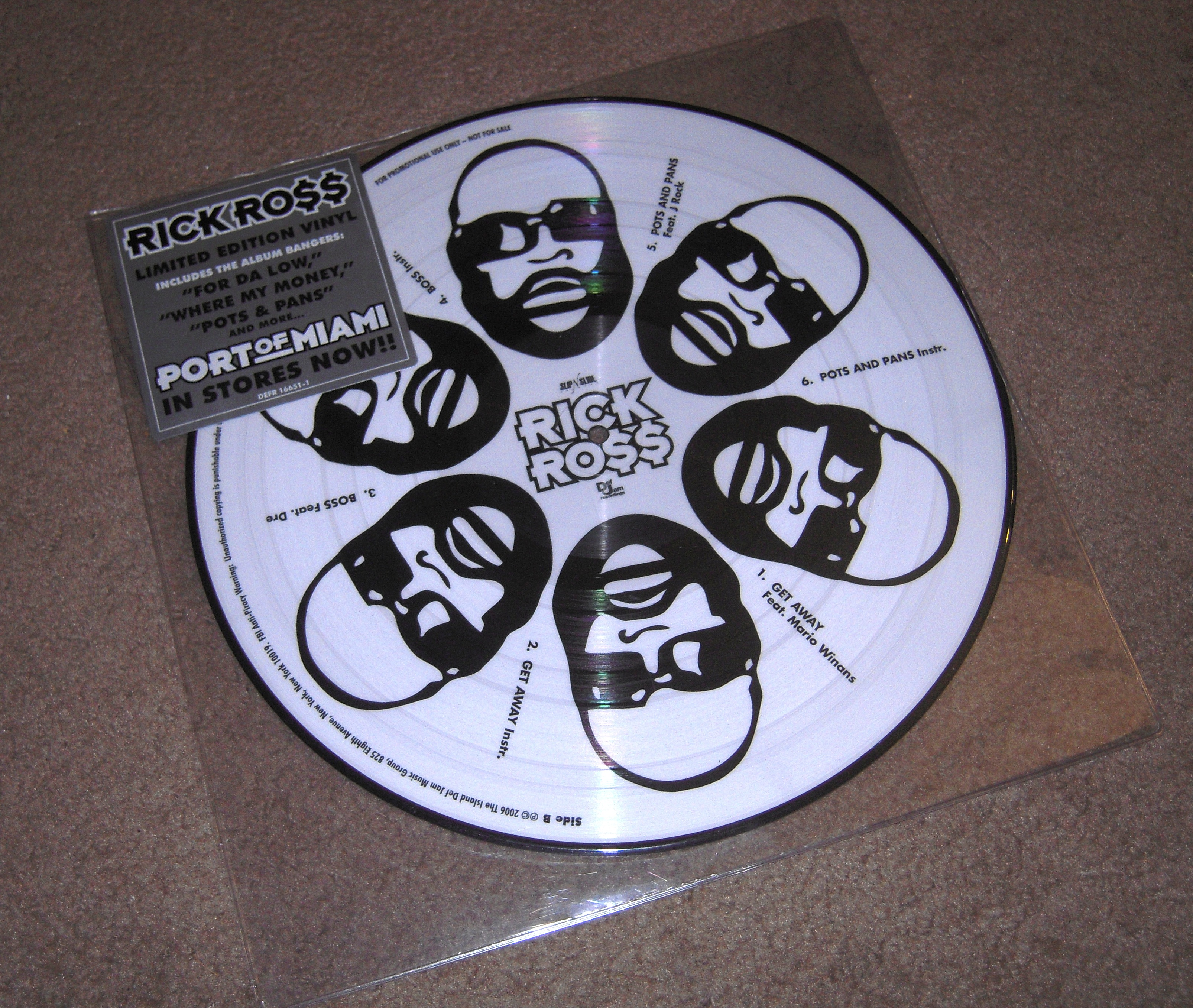 "Rick Ross ""Port Of Miami"" Picture Disc Vinyl"