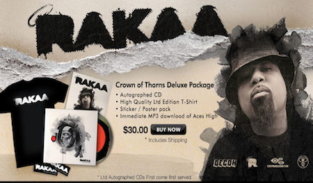 "Rakaa ""Crown Of Thorns"" Deluxe Packages Still Available"