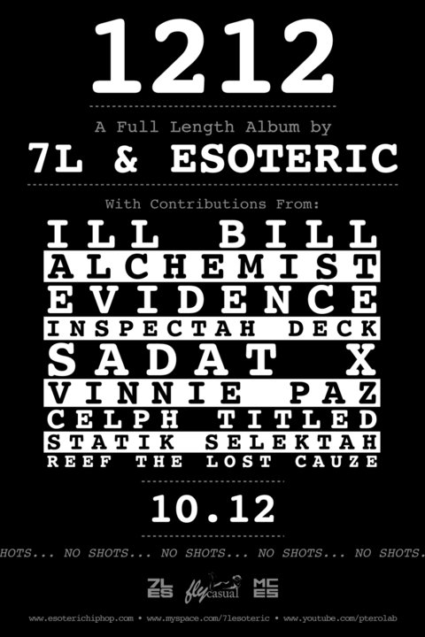 "7L & Esoteric Reveal ""1212"" LP..."