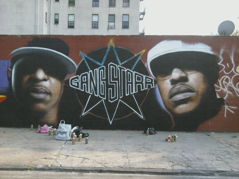 A Gang Starr Mural Just Went Up In The Bronx.