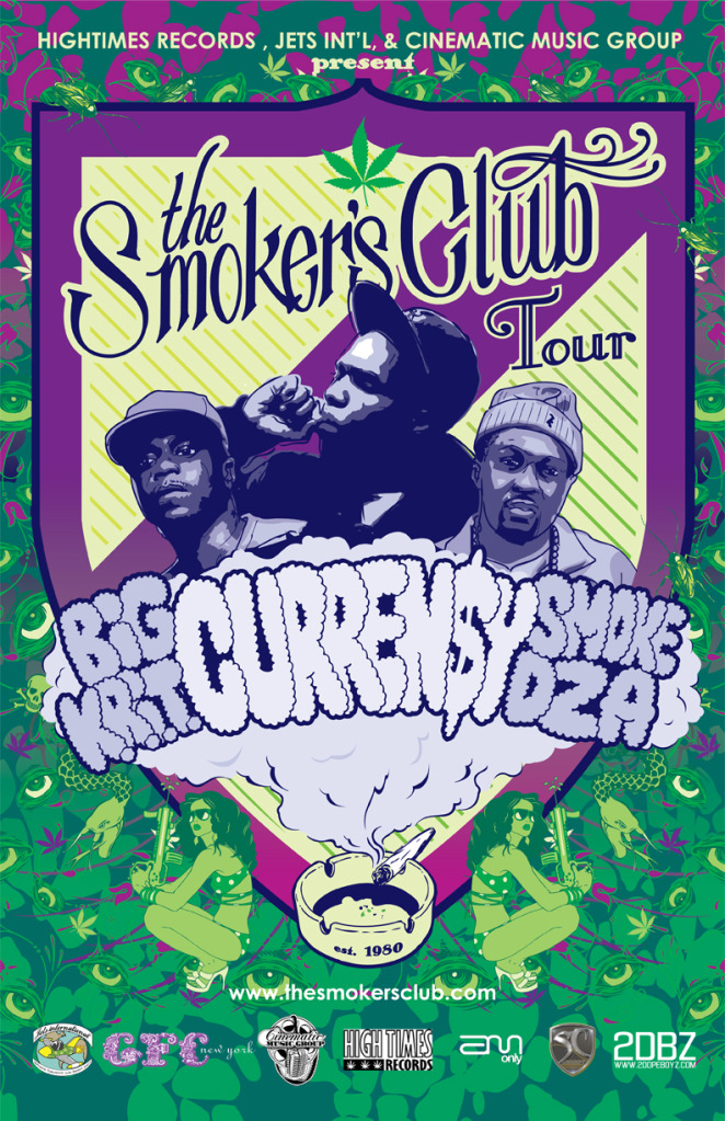 Curren$y, Big K.R.I.T, Smoke DZA & Mac Miller Team For Smoker's Club Tour