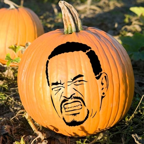The Ice-T Pumpkin Stencil.