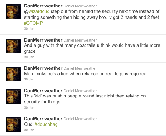 Kid Cudi Tweet-Beefing With Daniel Merriweather