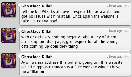 Wiz Khalifa / Ghostface Killah Have A Non-Beef