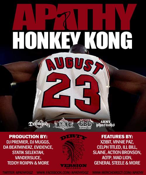 "Apathy's ""Honkey Kong"" Is Set For August 23rd"