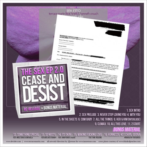 "Terrace Martin & Devi Dev - ""The Sex EP 2.0: Cease and Decist"" Mixtape"