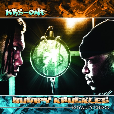"KRS-One + Bumpy Knuckles - ""Royalty Check"" Cover Art"