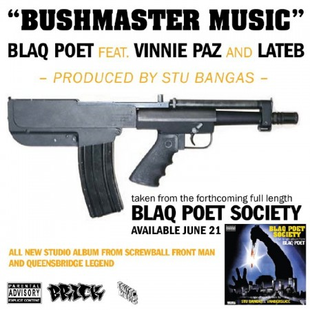 "Blaq Poet - ""Bushmaster Music"" (feat. Vinnie Paz + Lateb)"