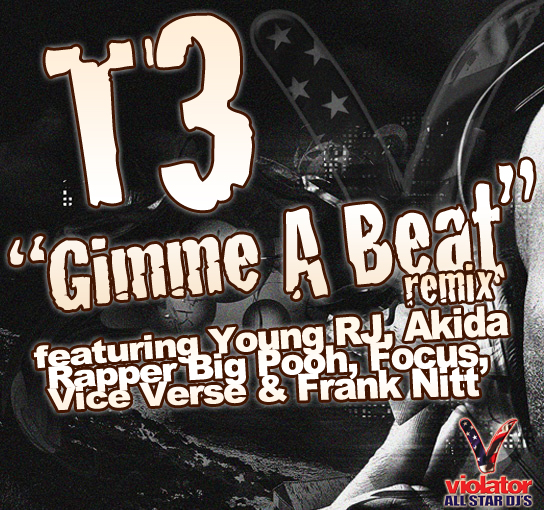 "T3 - ""Gimmie A Beat (Remix)"" (feat. Young RJ, Akida, Rapper Big Pooh, Focus, Vice Verse, Frank Nitt)"
