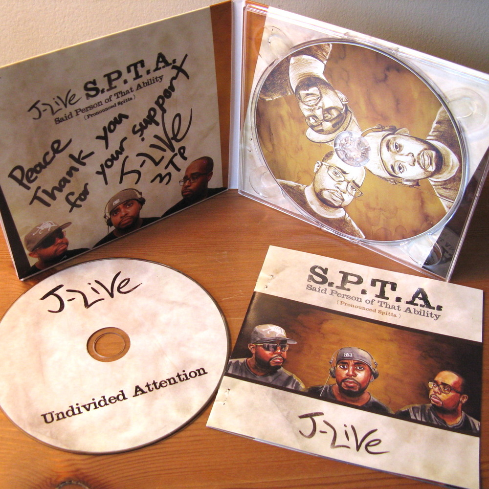 J-Live &quot;S.P.T.A.&quot; Autographed 2CD Preorders Are Up