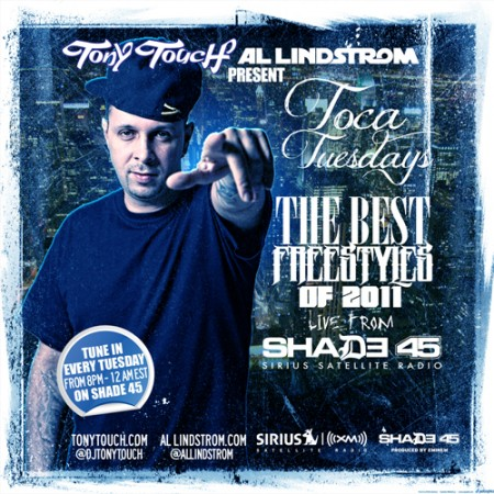 "Tony Touch + Al Lindstrom ""Toca Tuesdays: The Best Freestyles Of 2011"" (Mixtape)"