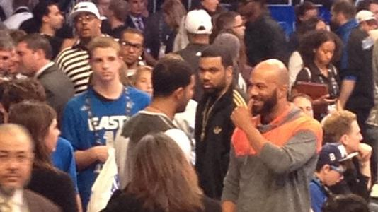 Drake And Common Speak at NBA Allstar Game