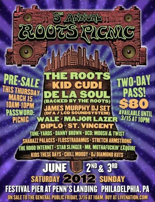 5th Annual Roots Picnic Line-Up Announced